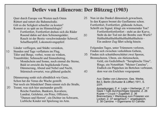 Delev von Liliencron: Blitzzug