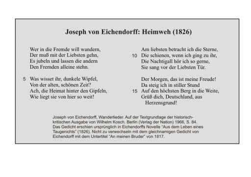 J. v. Eichendorff: Heimweh