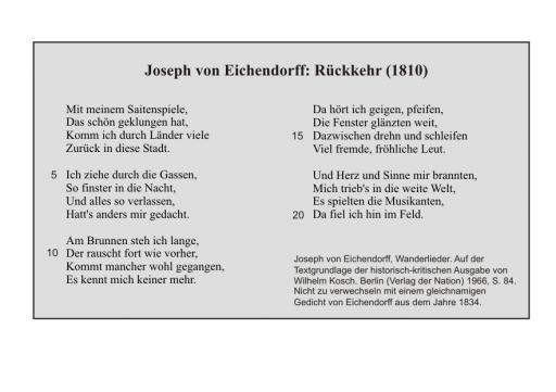 J. v. Eichendorff: Rückkehr