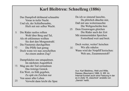 Karl Bleibtreu: Schnellzug