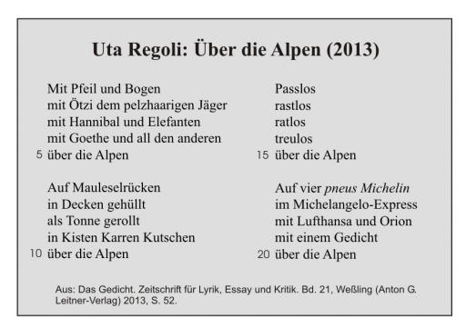 Uta Regoli: Über die Alpen