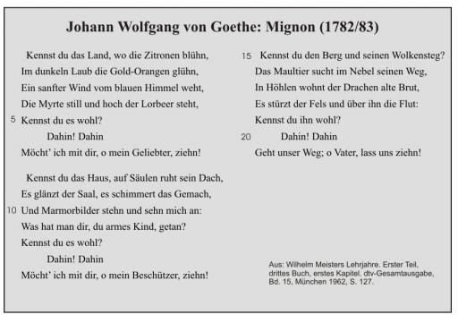 J.W. Goethe: Mignon