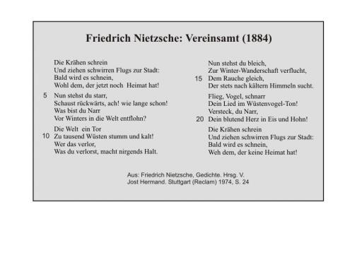 Friedrich Nietzsche: Vereinsamt