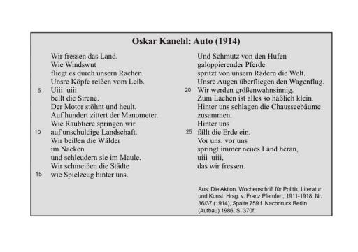 Oskar Kanehl: Auto