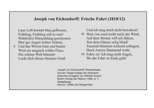 J. v. Eichendorff: Frische Fahrt