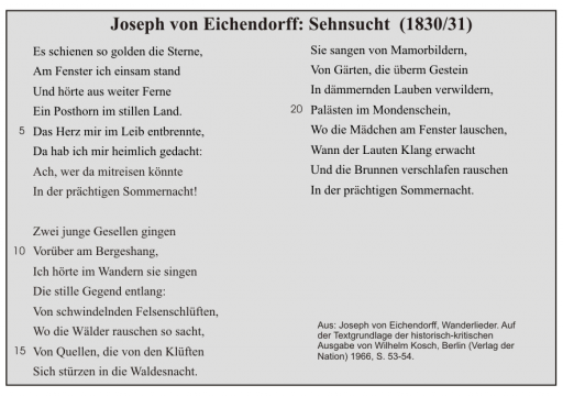 J. v. Eichendorff: Sehnsucht